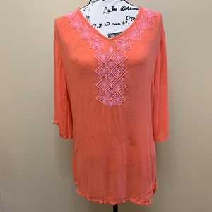 Lilly Pulitzer Embroidered Rayon Tunic Sz Small